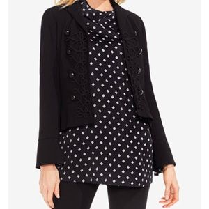 NWT Vince Camuto Black Military Jacket